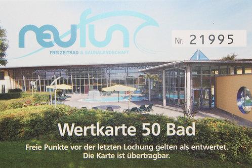 Wertkarte Bad / 50 Punkte