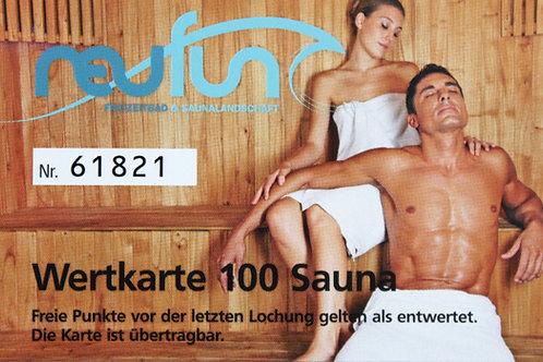 Wertkarte Sauna / 100 Punkte