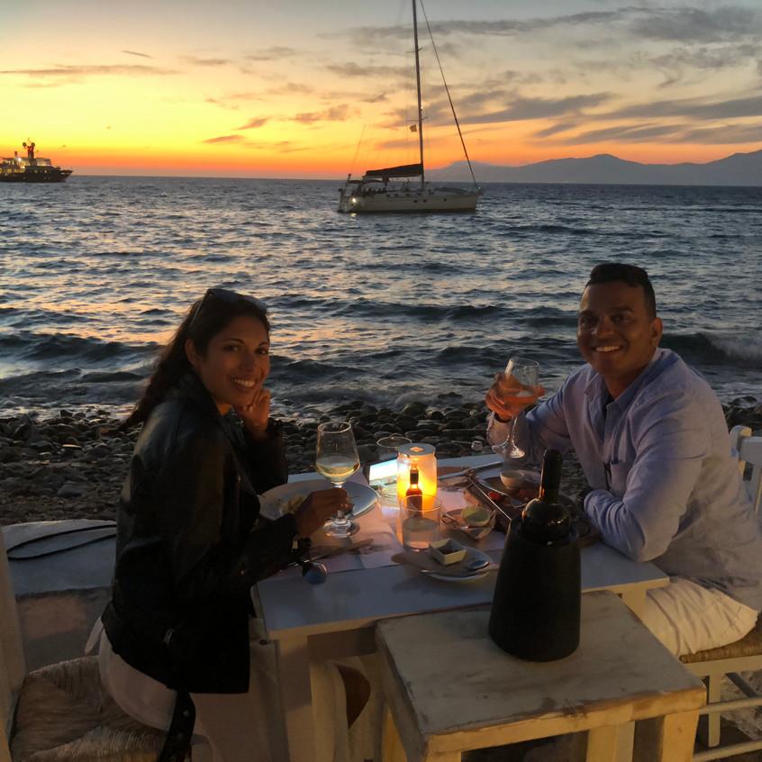 Sunset dinner at Nice n Easy