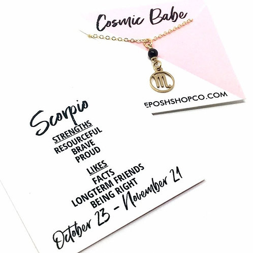 Scorpio Zodiac Glyph Necklace