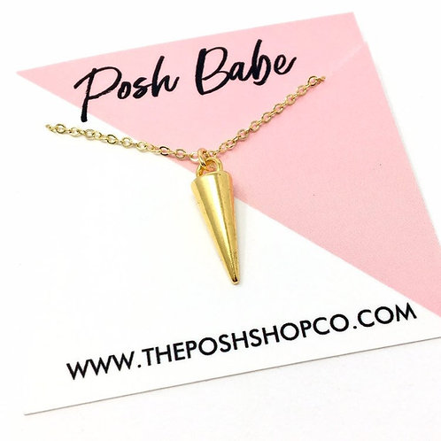 Minimalist Cone Spike Necklace