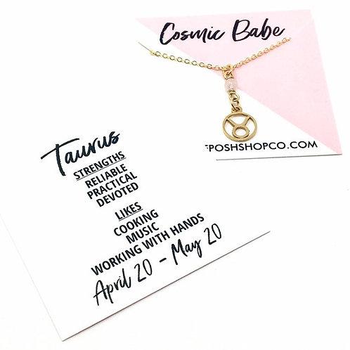 Taurus Zodiac Glyph Necklace