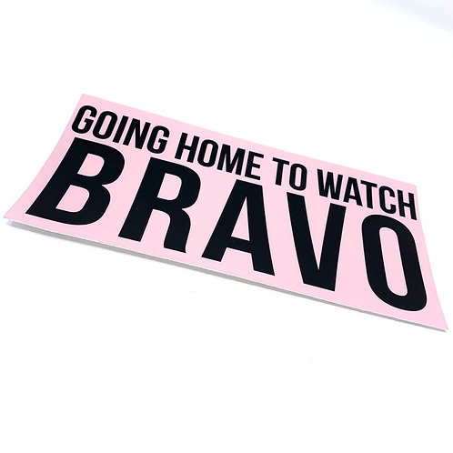 Going Home to Watch Bravo Laptop Sticker