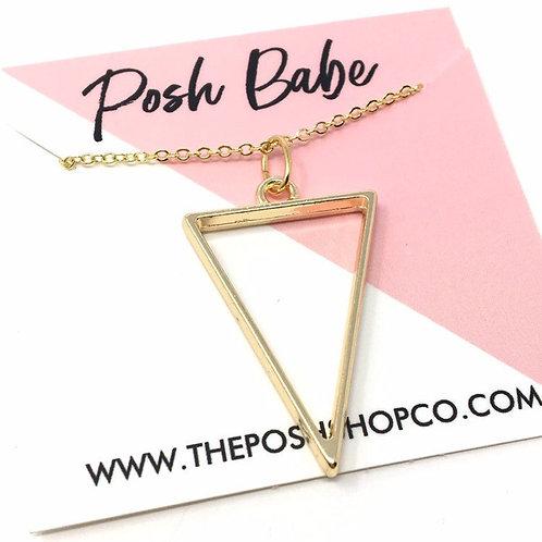 Minimalist Deep Triangle Necklace