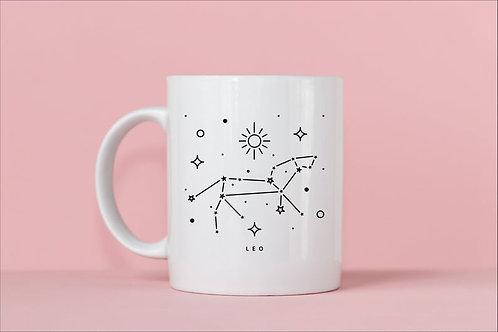 Leo Zodiac Constellation Mug