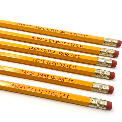 Taco Lover Pencil Set