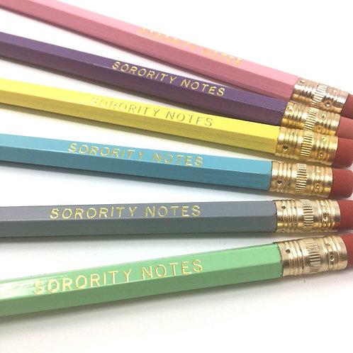 Sorority Notes Pencil Set
