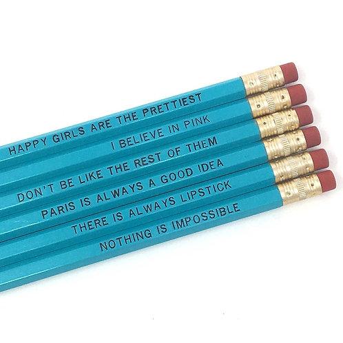 Audrey Hepburn Pencil Set