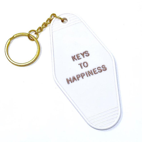 Keys to Happiness Keychain