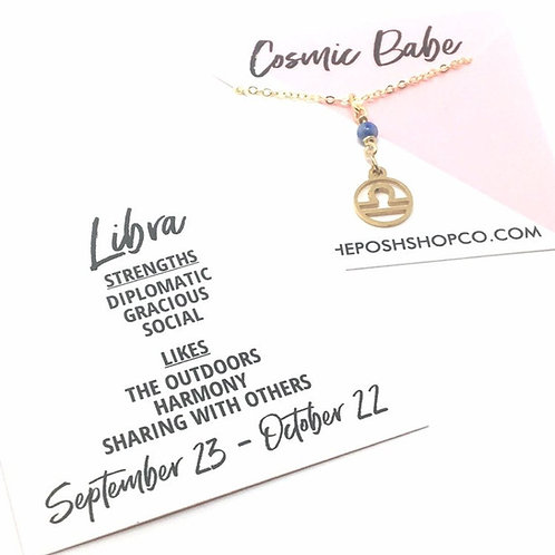 Libra Zodiac Glyph Necklace