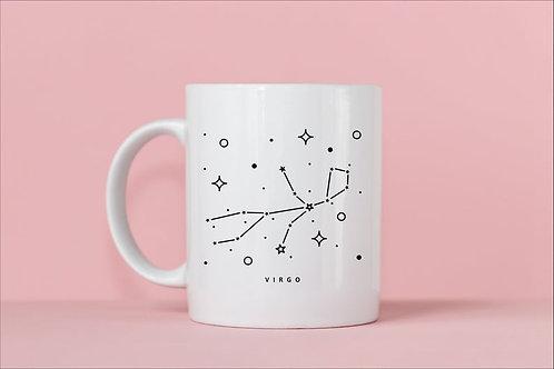 Virgo Zodiac Constellation Mug