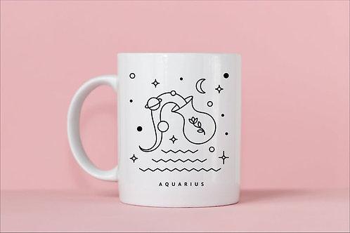 Aquarius Zodiac Mug