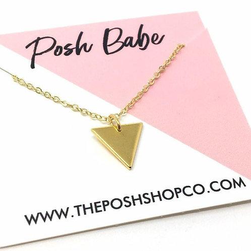 Minimalist Small Triangle Necklace