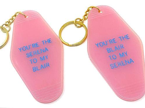 Gossip Girl Best Friend Keychain