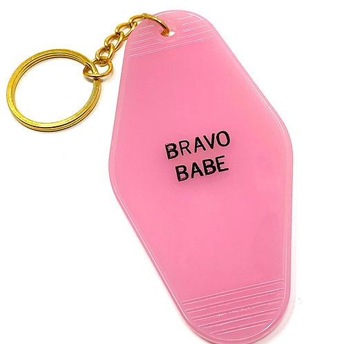 Bravo Babe Keychain
