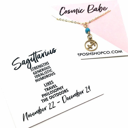 Sagittarius Zodiac Glyph Necklace