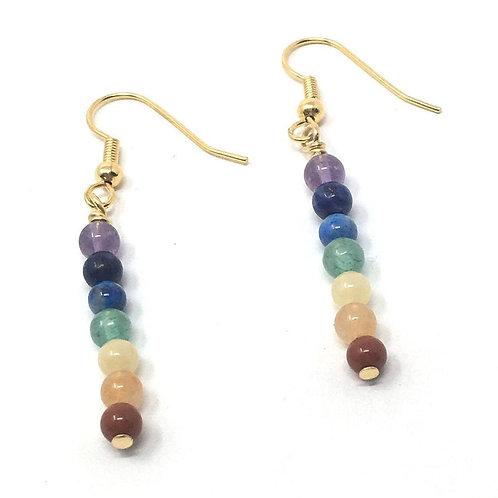 Chakra Gemstone Earrings