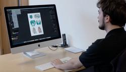 James creates the screen & digital print