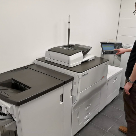 GPS Digital Screen-Printed Transfer - first print process as the digital prints & posi are sent to the Ricoh