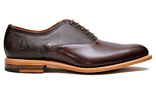 Chestnut Two-Tone Oxfords