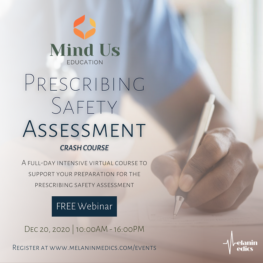 Prescribing Safety Assessment: Crash Course