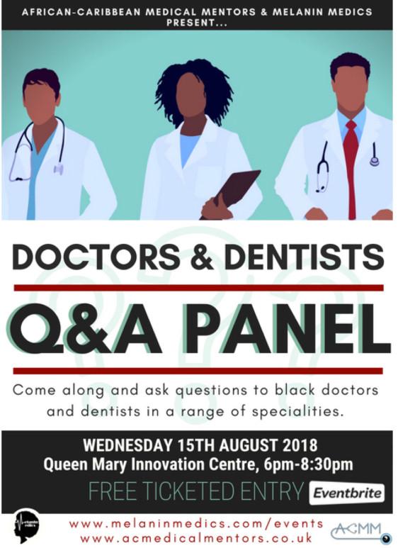 Black Doctors & Dentists Q&A Panel