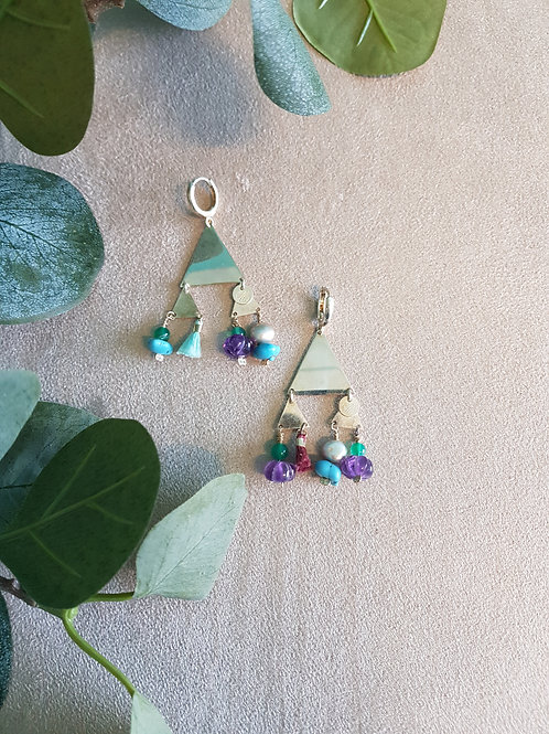 Wild boho earrings