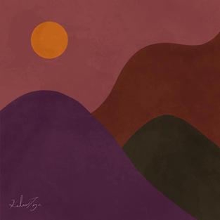 Dusk in violet by Kailee Taija Needham