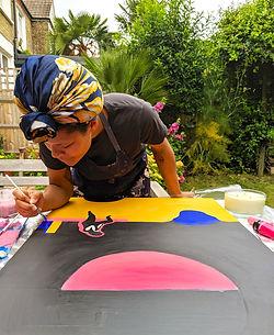 Lizzie Reid_Studio shot_Painting Diving