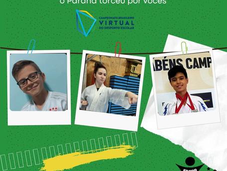 Três alunos-atletas do Paraná são campeões no I Campeonato Brasileiro Virtual do Desporto Escolar