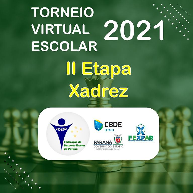 Torneio Virtual Escolar 2021 - I Campeonato Paranaense  Escolar de Xadrez - II Etapa - Nascidos em 2007 a 2010