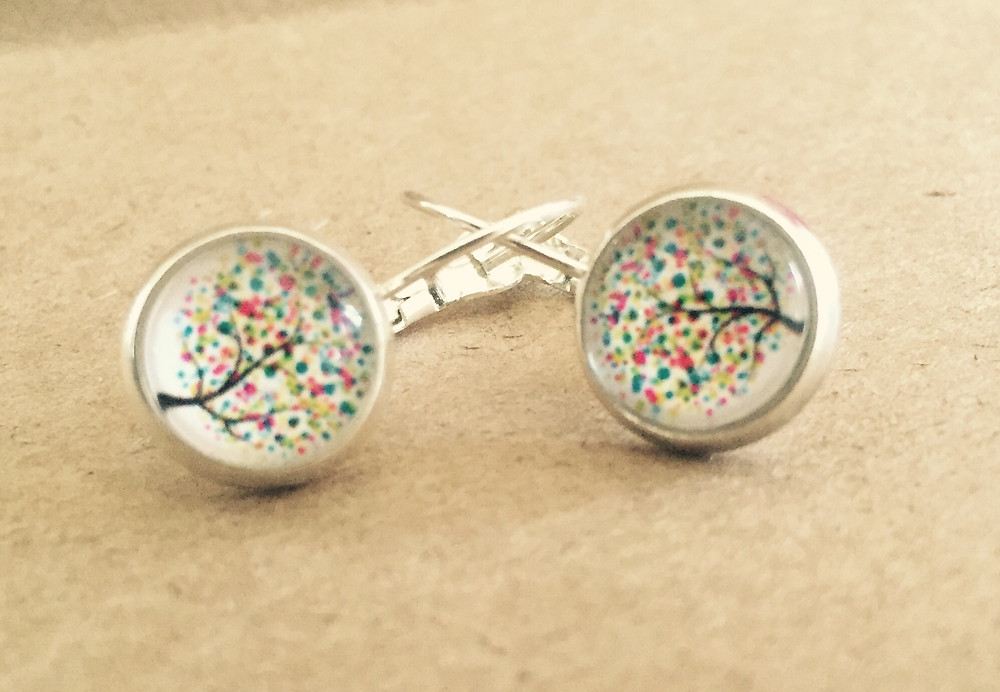 My amazing earrings purchased from Possum Valley!