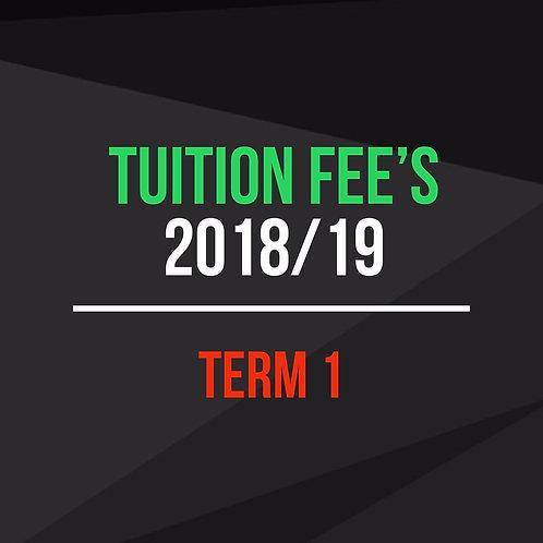 Term 1 - Tuition Fees