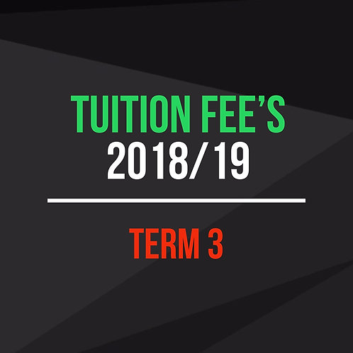 Term 3 - Tuition Fees