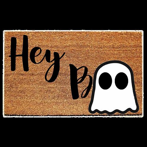 Hey Boo Halloween Welcome Mat