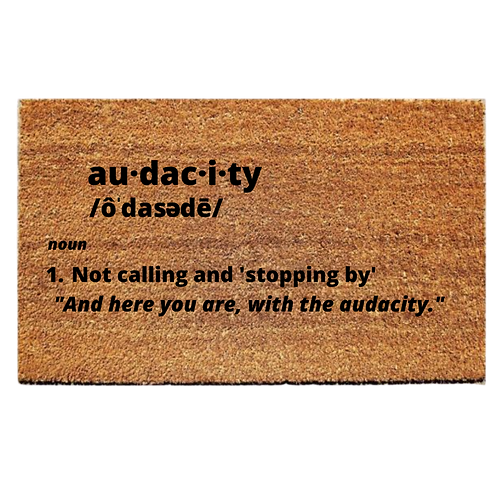 Audacity Welcome Mat