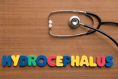 Hydrocephalus colorful word with stetho