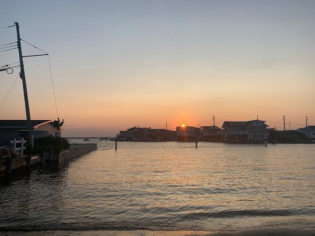 Bay Beach at sunset