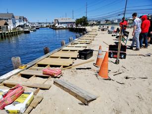 Volunteers working on Whale Creek boardwalk