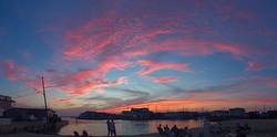 Sunset over the Bay Beach!