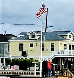 Memorial Day - Flag Raising at the Bay Beach