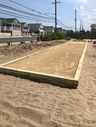 New bocce court