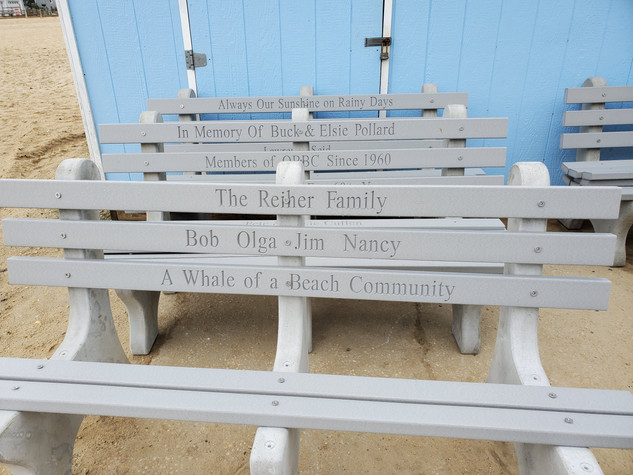 2020 Commemorative Benches - ready for placement!