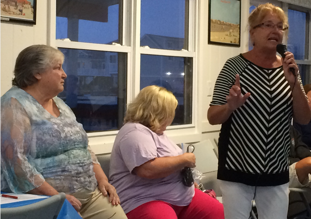 Lorraine introduces Pat for our first Ocean Beach History Night - 09/08/18