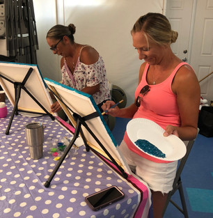 Paint & Sip at the clubhouse