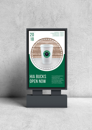 HIA Bucks Coffee Poster Mockup