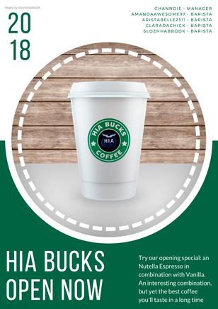 HIA Bucks Coffee - Poster