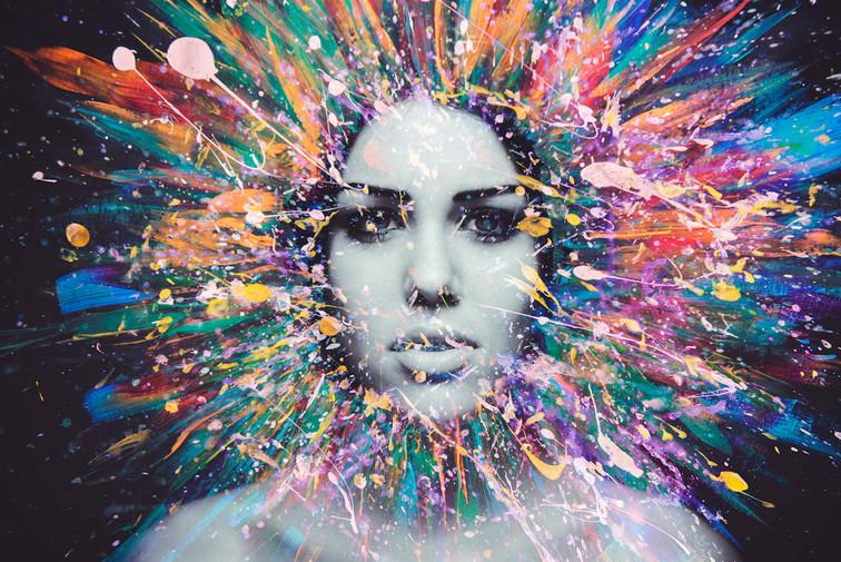 Woman Paint 17 H Copyright Lasse Hoile.j