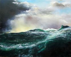ocean swell acrylic on canvas 5ft x 4ft