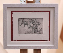 starting to frame these new etchings ava